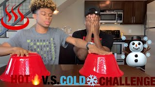 HOT VS COLD  CHALLENGE!! 😂