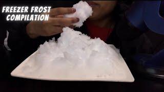 ASMR ICE EATING FREEZER FROST COMPILATION BITES ONLY กนนำแขง ăn đá 얼음 먹기buz yemek makan es