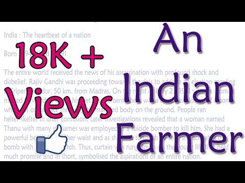 Essay On An India Farmer English Essay For Class 8 9 10 And 12