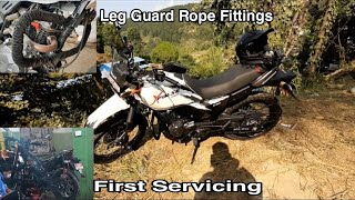 First Servicing // Cost // Our Hero Xpulse 200// Leg Guard Rope Fittings