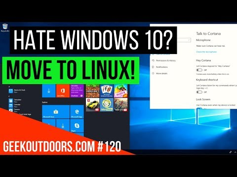 Hate Windows 10? Move to Linux! - Tutorial #Geekoutdoors.com EP120