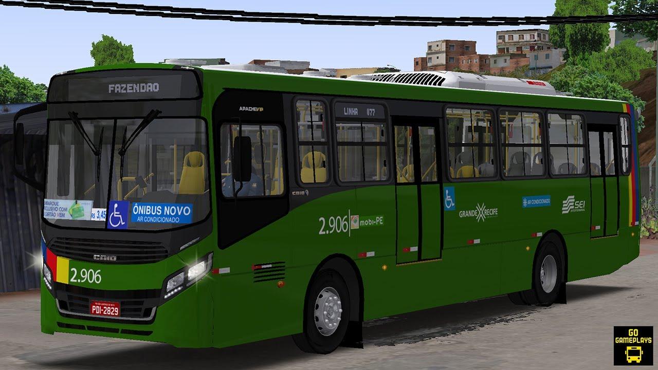 OMSI 2 - CAIO APACHE VIP IV PODIUM BRT MB OF-1721L BT5 (RECIFE) | MAPA VALE DAS MANGUEIRAS [G29]