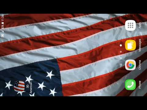 3D American Flag Live Wallpaper