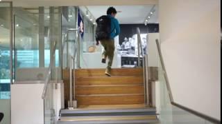 ソニービル「It's a Sony展」でメロディステップ(ドレミ階段)を体験