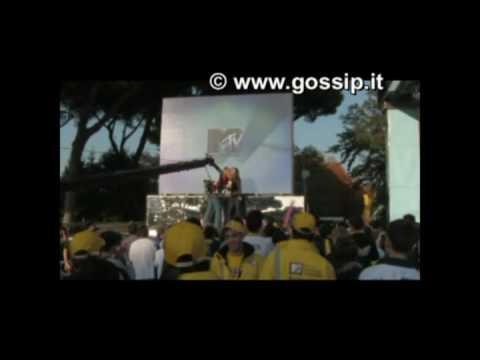 elena santarelli backstage di TRL