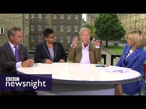 Nigel Farage, Simon Schama and Kerry-Anne Mendoza debate election aftermath - BBC Newsnight