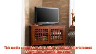 Upton Home Hurley Walnut Wood Corner Tv Stand Media Storage Cabinet