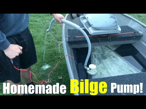 How to Make a Homemade Bilge Pump for a Jon Boat