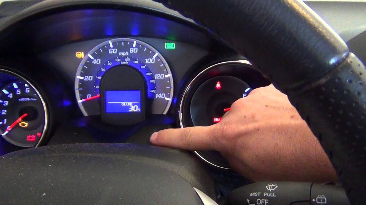 2012 Honda Fit Oil Life Light Reset How To Youtube