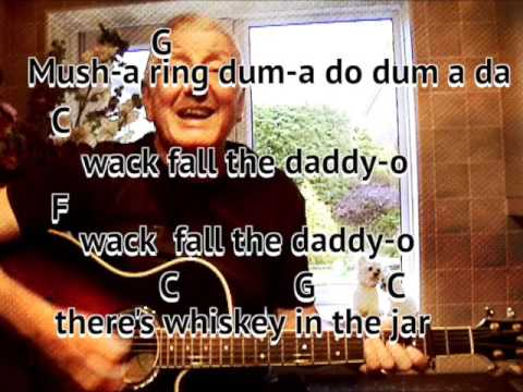 Whiskey In The Jar - Dubliners - cover - easy chords guitar lesson with on-screen chords & lyrics