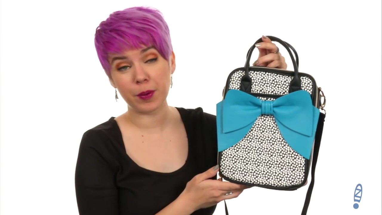 Betsey Johnson Bow Chow Bella Lunch Tote SKU 8938043 - YouTube 4b7a6db2d6ad0