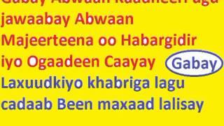 Gabay Jawaaba - Abwaan Majeerteena oo Habargidir iyo Ogadeen Caayay