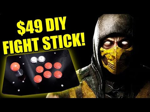 EASY $49 DIY Fight Stick - Mortal Kombat 11 + SO MUCH MORE…