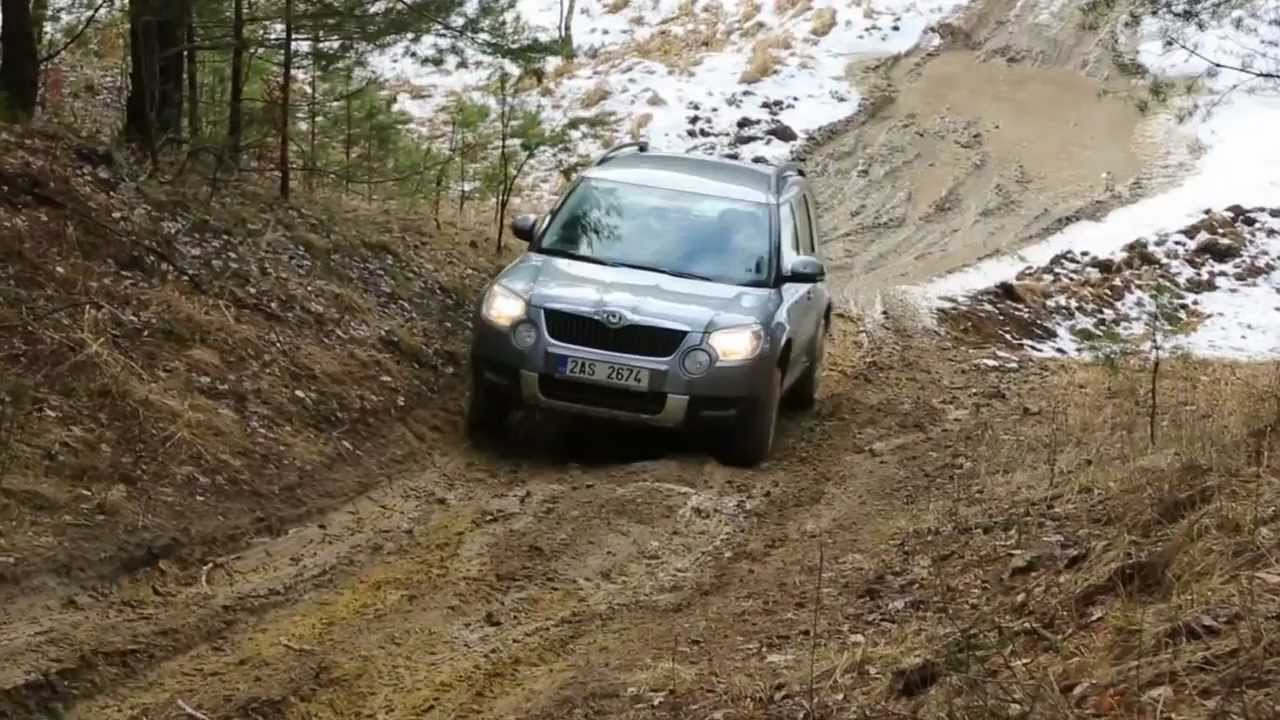skoda yeti in terrain 4x4 youtube. Black Bedroom Furniture Sets. Home Design Ideas