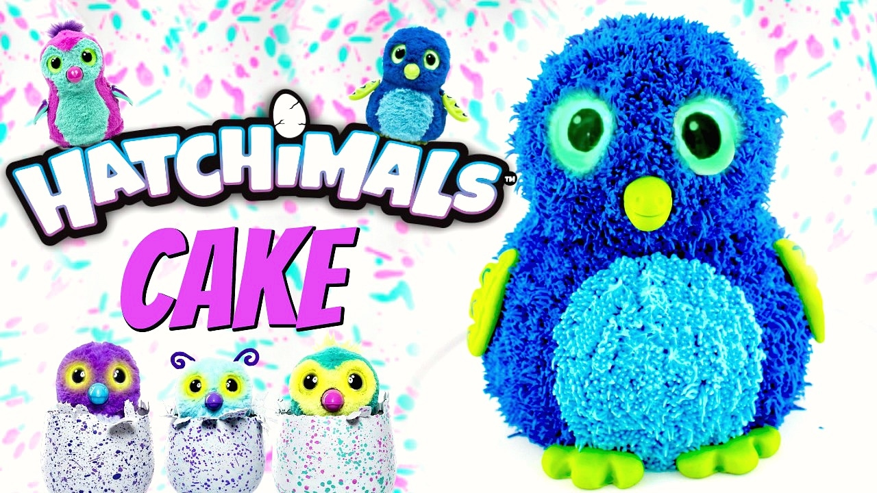 Hatchimal Happy Birthday Cupcake Toppers