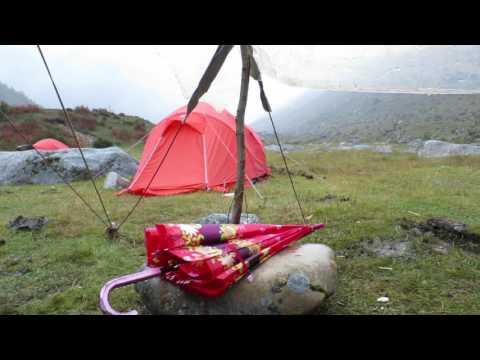 base camp in genyen massif