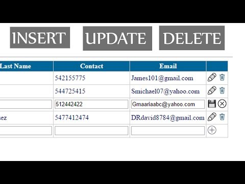 C# Asp Net Gridview - Insert Update and Delete With SQL Server - YouTube