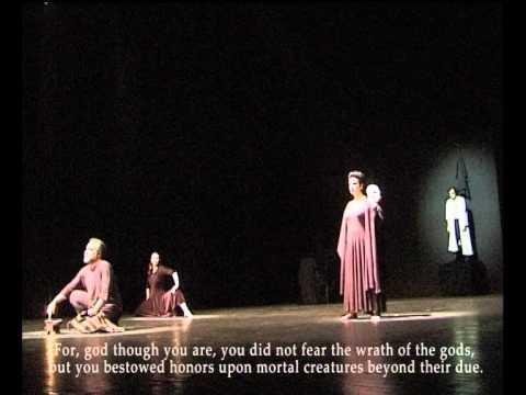 Live PROMETHEUS BOUND [1-87] (original text - English subtitles) Theatre Erineos-Greece