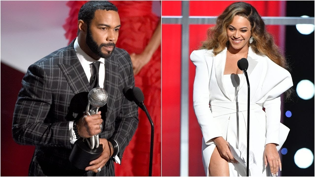 Actor Omari Hardwick draws fan outrage for kissing Beyonc at NAACP Awards
