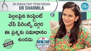 Sr Pediatrician Dr Sharmila Exclusive Interview | Full Video | Healthy Conversations with Anjali #4