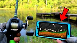 *NEW* Technology to Find BIG BASS Hideouts (Smartphone Sonar!)