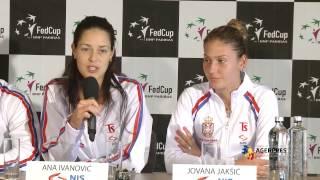 Conferinţa de presă echipa Serbiei anunţarea echipelor Fed Cup pentru întâlnirea România-Serbia