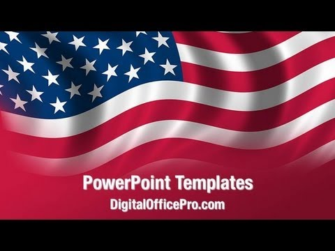 us flag waving powerpoint template backgrounds digitalofficepro