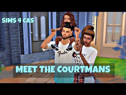 Meet The Courtmans   The Sims 4 CAS   Create A Family  
