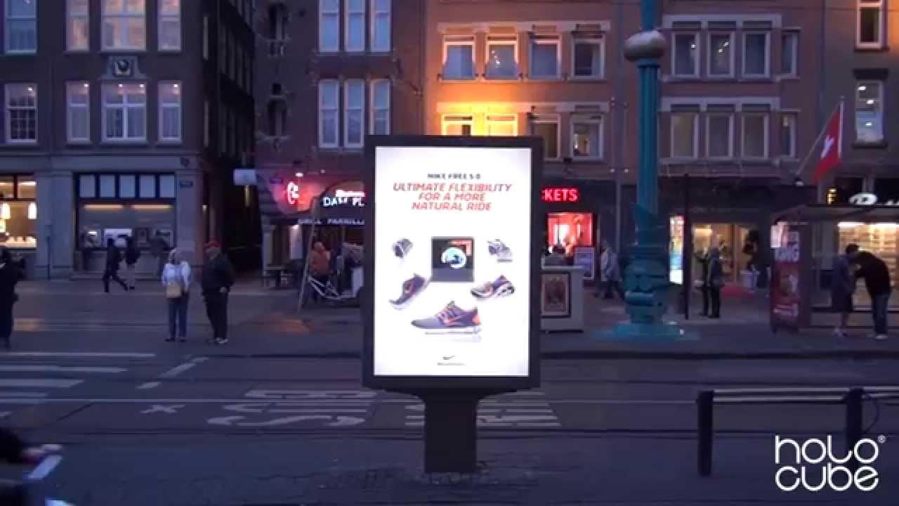 Le holocube de Nike permet d'afficher des publicités holographiques