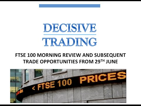 Ftse 100 Review + Live Trade + Opportunities 28th June