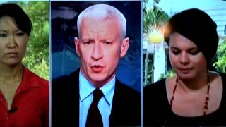 Repeat youtube video CNN's Sarah Sidner wiping tears from face during interview about Malaysian Air 370