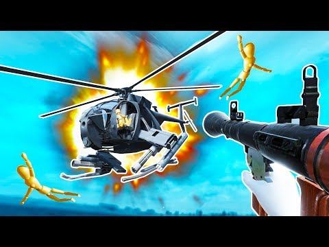 I DESTROYED A HELICOPTER With A RPG In Disassembly VR!