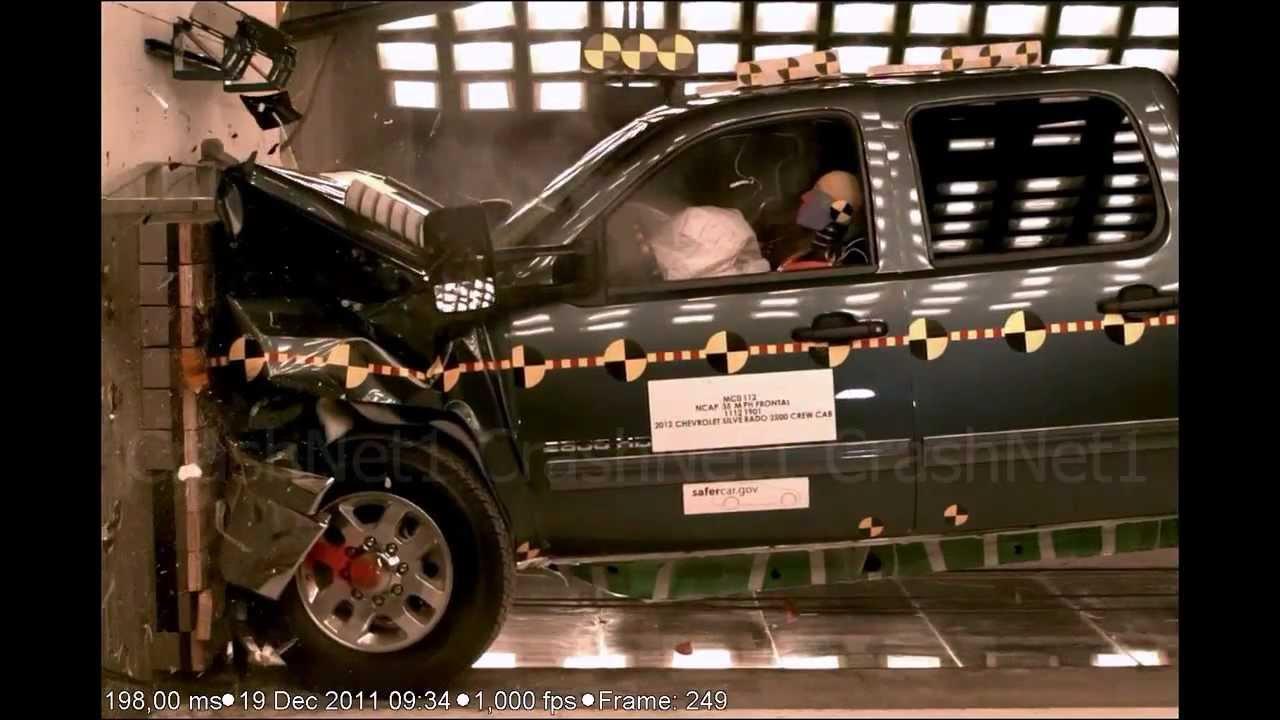 Chevrolet silverado 2500 crew cab 2012 frontal crash test nhtsa crashnet1