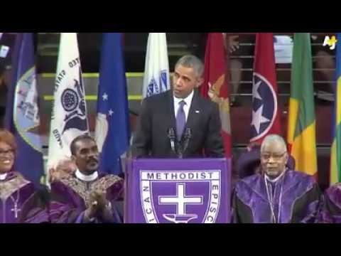 PRESIDENT BARACK OBAMA LEADING -AMAZING GRACE SONG.-JESUS ADDICTS VIDEOS... Credits go to YouHotNews