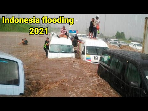 Indonesia is sinking | flooding in Indonesia destroys hundreds of houses