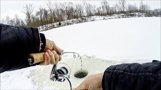 Hooked Up!! Caught BIG Pike While Ice Fishing