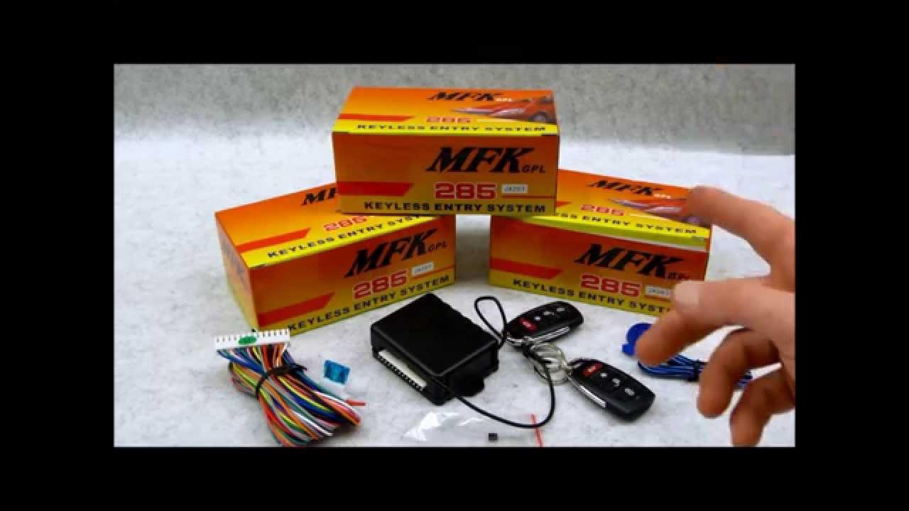 Code Learning Remotes on Autoloc MFK 285 295 Keyless Entry System  YouTube