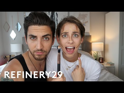 My Brother Does My Makeup | Lucie Fink Vlogs | Refinery29 thumbnail