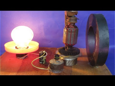 Homemade power motor generator to make free energy - New idea to make project free energy at school