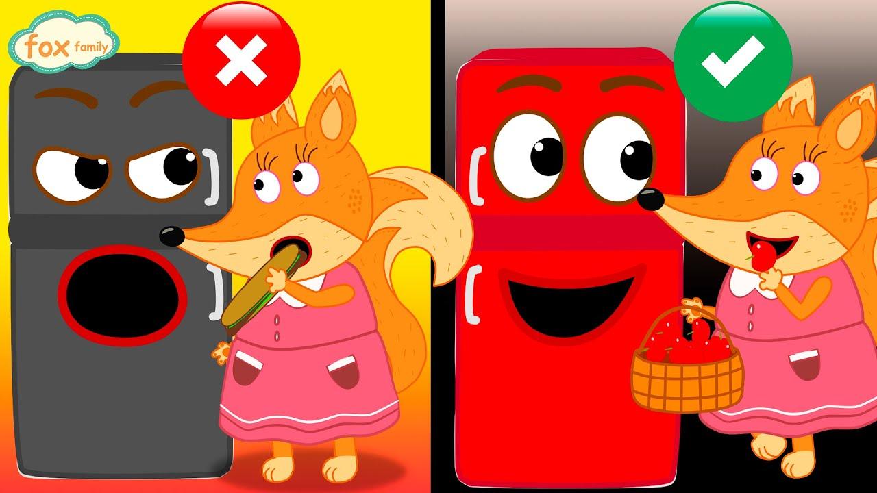 Fox Family español Buenos hábitos hablando refrigerator   dibuhos animados nuevos para niños #307