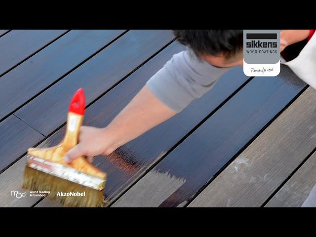 Tarima Exterior Moso Bamboo X-treme mantenimiento con Sikkens Cetol WF771