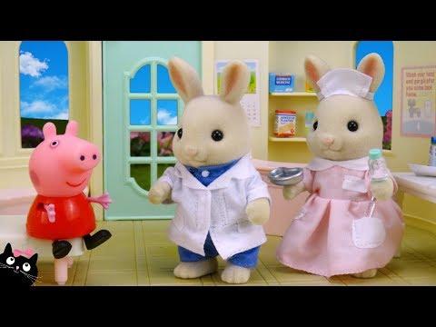 Peppa Pig tiene Varicela y va al Hospital - Juguetes de Peppa Pig