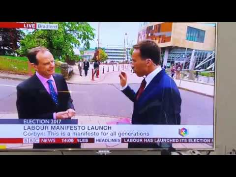 BBC News reporter blooper
