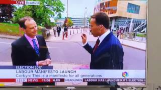 BBC News reporter blooper