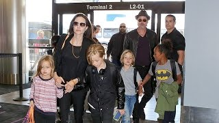 Angelina Turns 40 And The Pitts Take The Kids To Europe