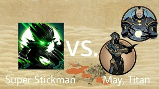 Shadow Fight 2 Super Stickman vs May and Titan