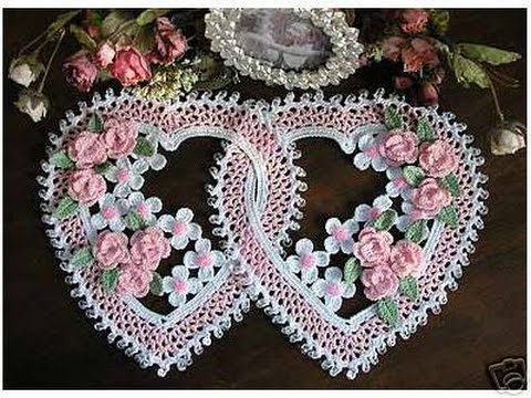 Crochet| heart doily| Free |crochet patterns| 36 - YouTube