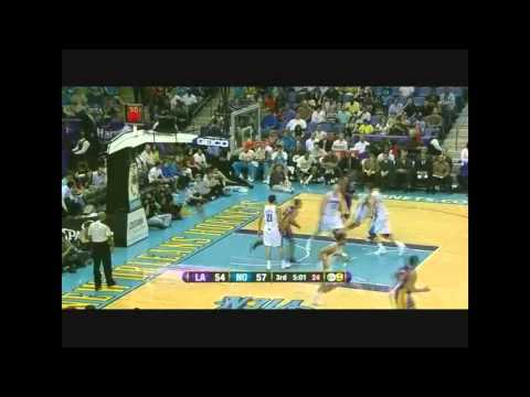 Ramon Sessions Dunk vs New Orleans Hornets April 9 2012 Lakers 93-91 Hornets