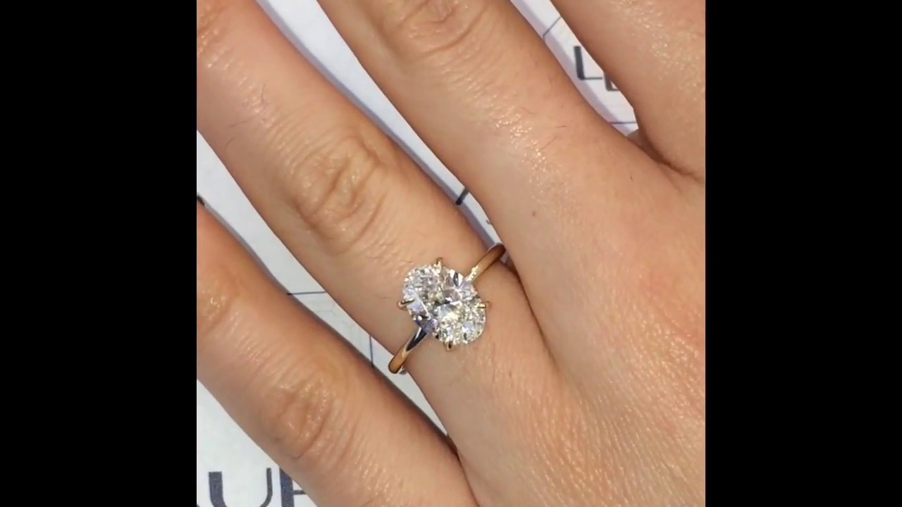 2 Carat Oval Diamond Engagement Ring Youtube