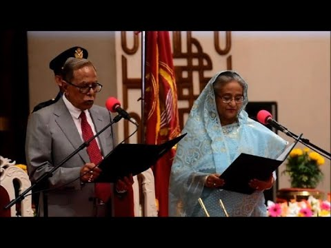 Hasina sworn in as Bangladesh PM after 'tainted' polls